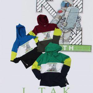 سوئي شرت كلاهدار فضانورد پسرانه هودی زمستان 99