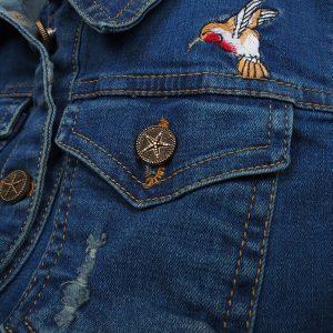 كاپشن شلواردخترانه گلدوزي پرنده کارهای ست دخترانه زمستان 99