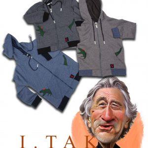 سوئي شرت تمام زيپ تيكه دوزي سوسمار پسرانه سویشرت زمستان 99