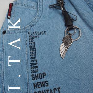 شلوارك دوركش پيش چاپي رنگي شلوار جین پسرانه تابستان 1400