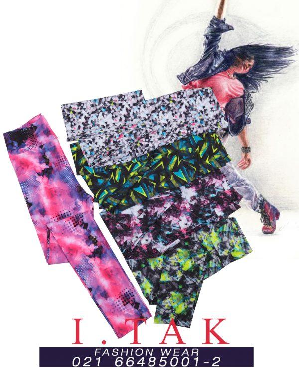 لگ ورزشي طرحدار لگ دخترانه بهار 1400