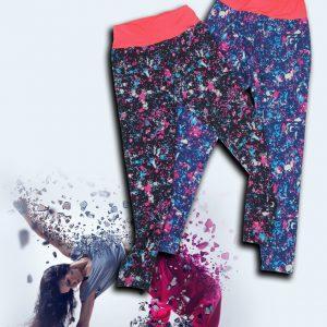 لگ اسپرت طرح دار كمرپهن لگ دخترانه پاییز 1400